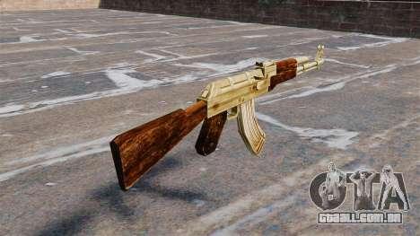 AK-47 banhado a ouro para GTA 4 segundo screenshot