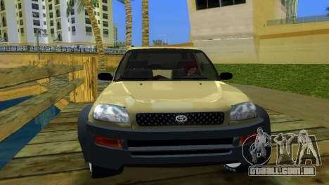 Toyota RAV 4 L 94 Fun Cruiser para GTA Vice City vista traseira esquerda