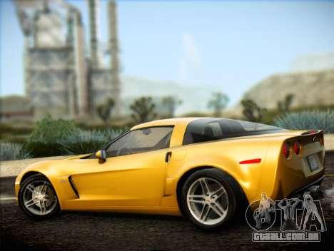 Chevrolet Corvette Z06 2006 v2 para GTA San Andreas traseira esquerda vista