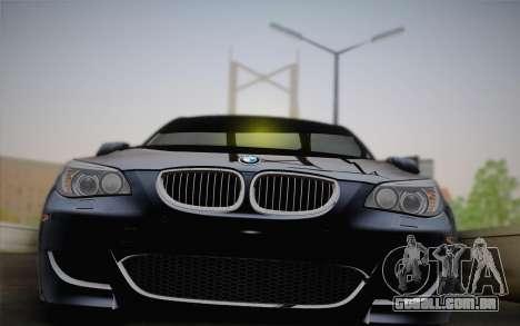 BMW M5 para GTA San Andreas vista traseira