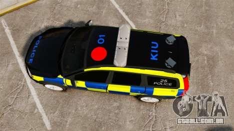 Volvo XC70 Police [ELS] para GTA 4 vista direita