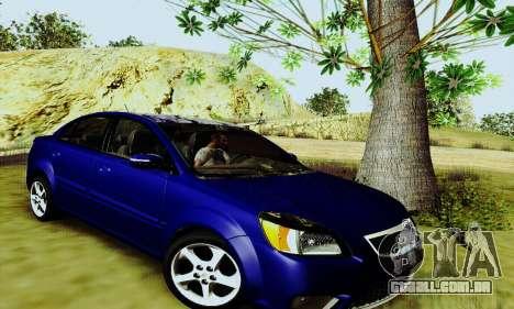 Kia Rio II 2009 para GTA San Andreas esquerda vista