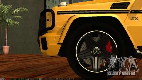 Mercedes-Benz G65 AMG para vista lateral GTA San Andreas