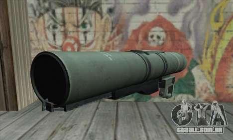 Bazooka para GTA San Andreas segunda tela