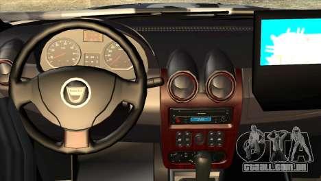 Dacia Duster Army Skin 3 para GTA San Andreas vista direita