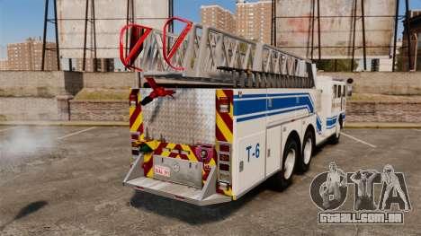 MTL Firetruck MDH1000 Midmount Ladder [ELS] para GTA 4 traseira esquerda vista