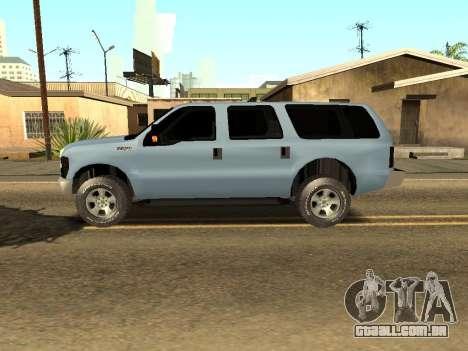 Ford Excursion para GTA San Andreas esquerda vista
