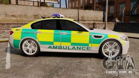 BMW M5 Ambulance [ELS] para GTA 4 esquerda vista