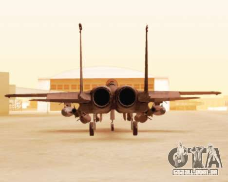 F-15E Strike Eagle para GTA San Andreas vista traseira
