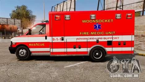 Brute Woonsocket Fire Medic Unit [ELS] para GTA 4 esquerda vista