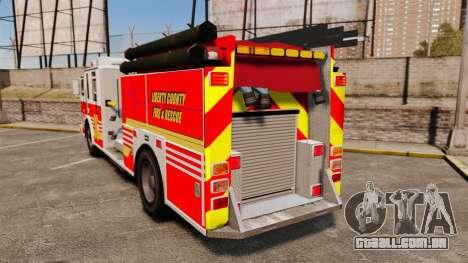 Firetruck LCFR [ELS] para GTA 4 traseira esquerda vista