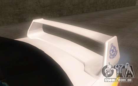 Subaru Impreza 2006 WRX STi Police Malaysian para GTA San Andreas vista direita