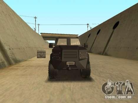 Ford Super Duty Armored para GTA San Andreas vista direita