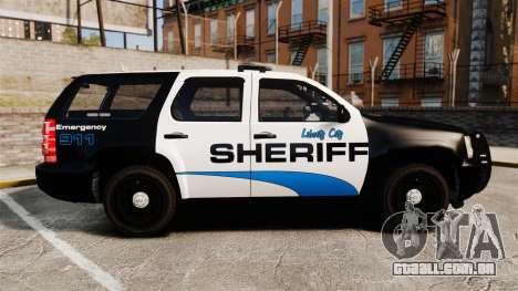 Chevrolet Tahoe 2008 Federal Signal Valor [ELS] para GTA 4 esquerda vista