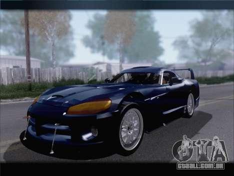 Dodge Viper Competition Coupe para GTA San Andreas esquerda vista