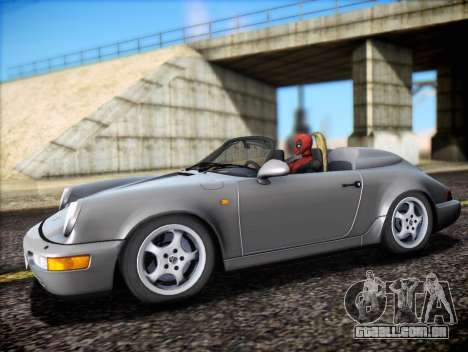 Porsche 911 Speedster Carrera 2 1992 para GTA San Andreas vista inferior