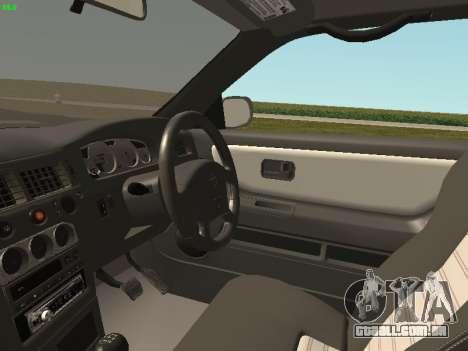 Nissan Skyline R33 GT-R para GTA San Andreas vista traseira