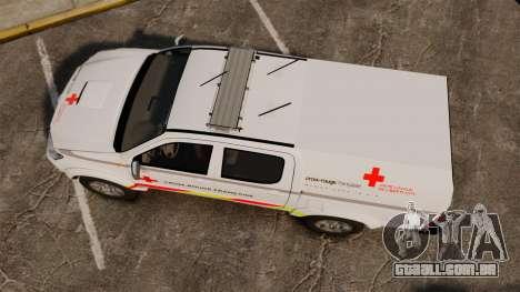 Toyota Hilux French Red Cross [ELS] para GTA 4 vista direita