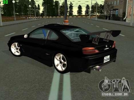Nissan Silvia S15 Tuning para GTA San Andreas traseira esquerda vista