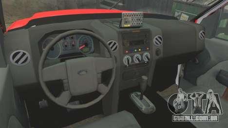 Ford E-350 LAFD Ambulance [ELS] para GTA 4 vista de volta