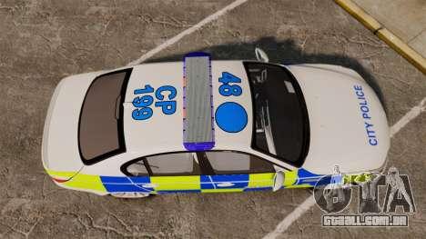 BMW M5 E60 City Of London Police [ELS] para GTA 4 vista direita