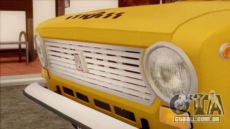 VAZ 21011 Taxi para GTA San Andreas vista traseira