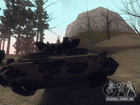 BMP-2 para GTA San Andreas vista interior