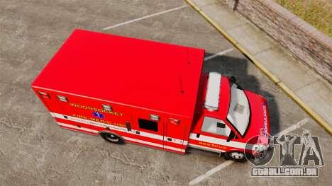 Brute Woonsocket Fire Medic Unit [ELS] para GTA 4 vista direita