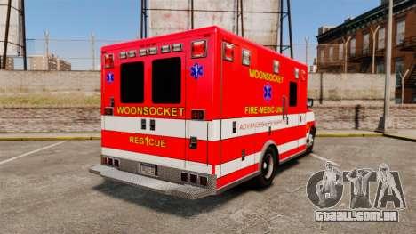 Brute Woonsocket Fire Medic Unit [ELS] para GTA 4 traseira esquerda vista