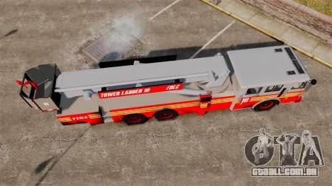 MTL Firetruck Tower Ladder [ELS-EPM] para GTA 4 vista direita
