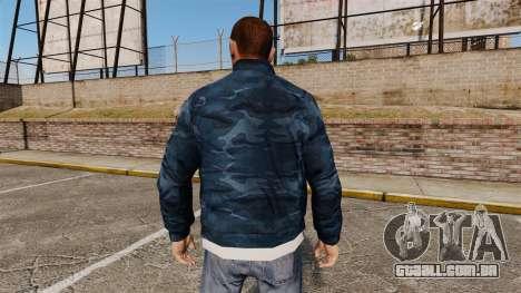 Blusão azul camuflagem para GTA 4 segundo screenshot