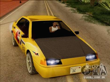 Stratum Sedan Sport para GTA San Andreas vista traseira