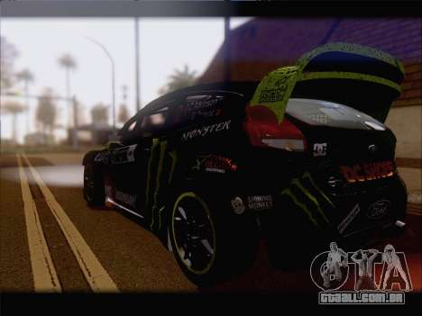 Ford Fiesta RS WRC 2013 para GTA San Andreas vista interior