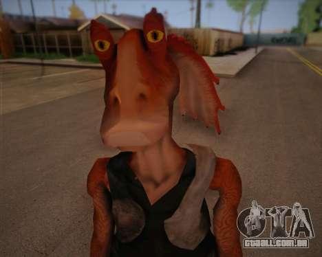 Jar Jar Binks para GTA San Andreas terceira tela
