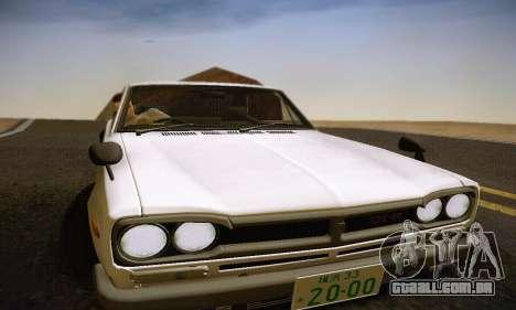 Nissan Skyline 2000GTR 1967 Hellaflush para o motor de GTA San Andreas