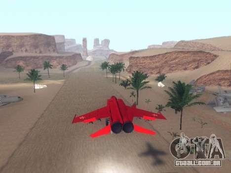 MiG-25 para GTA San Andreas vista direita