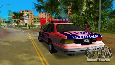 GTA IV Police Cruiser para GTA Vice City vista direita
