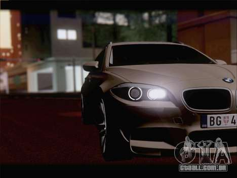 BMW M5 F11 Touring para GTA San Andreas vista interior