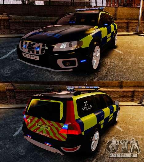 Volvo XC70 Police [ELS] para GTA 4 vista interior