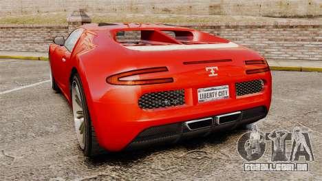 GTA V Truffade Adder para GTA 4 traseira esquerda vista