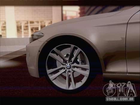 BMW M5 F11 Touring para GTA San Andreas vista superior
