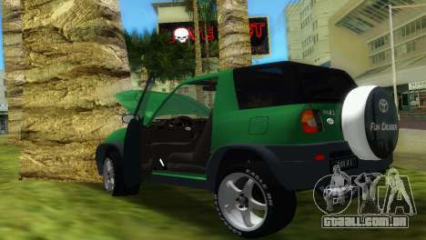 Toyota RAV 4 L 94 Fun Cruiser para GTA Vice City vista interior