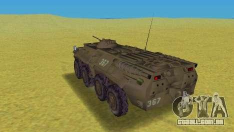 BTR-80 para GTA Vice City vista traseira esquerda