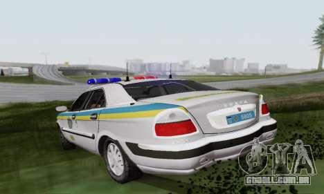 GÁS-3111 Miliciâ Ucrânia para GTA San Andreas vista direita