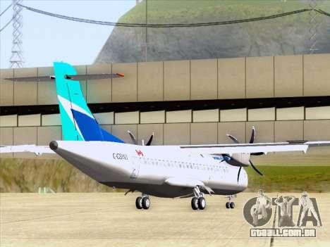 ATR 72-500 WestJet Airlines para GTA San Andreas traseira esquerda vista