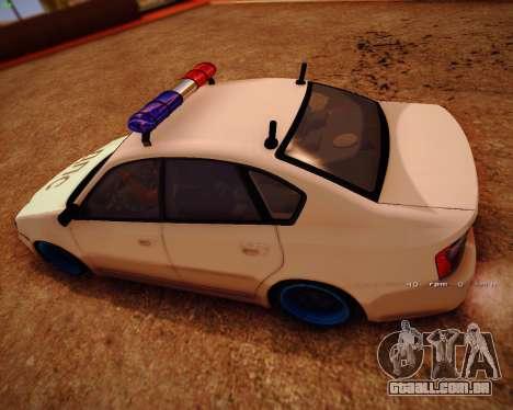 Subaru Legacy para GTA San Andreas traseira esquerda vista