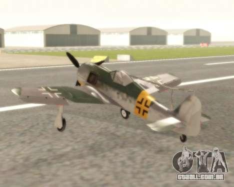 Focke-Wulf FW-190 F-8 para GTA San Andreas traseira esquerda vista