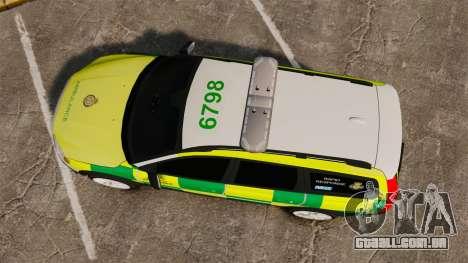 Volvo XC70 Paramedic [ELS] para GTA 4 vista direita