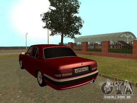 GAZ Volga 31105 para GTA San Andreas vista traseira