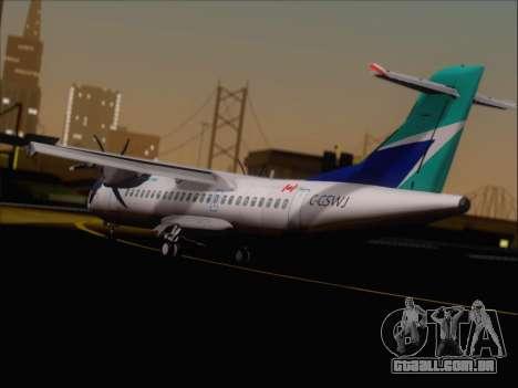 ATR 72-500 WestJet Airlines para GTA San Andreas vista direita